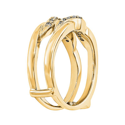 1/5 CT. T.W. Diamond 14K Yellow Gold Rng Guard