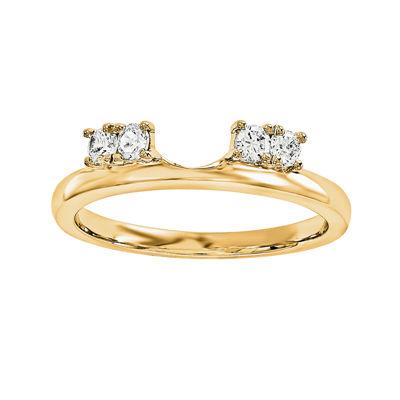 1/6 CT. T.W. Diamond 14K Yellow Gold Ring Wrap