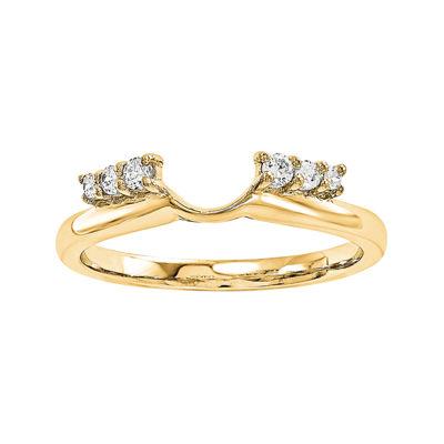 1/7 CT. T.W. Diamond 14K Yellow Gold Ring Wrap