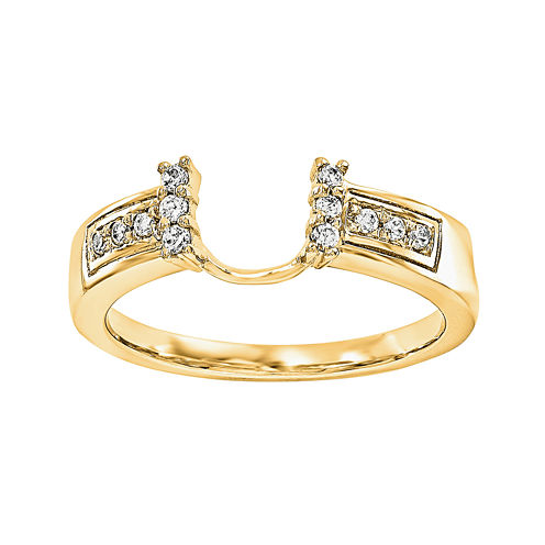 1/8 CT. T.W. Diamond 14K Yellow Gold Ring Wrap