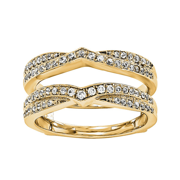 3/8 CT. T.W. Diamond 14K Yellow Gold Ring Guard