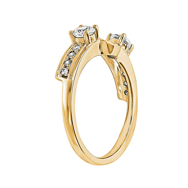 5/8 CT. T.W. Diamond 14K Yellow Gold Ring Wrap