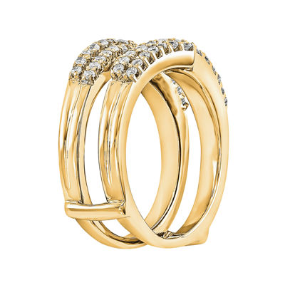 5/8 CT. T.W. Diamond 14K Yellow Gold Ring Guard