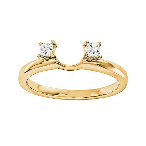 1/10 CT. T.W. Diamond 14K Yellow Gold  Ring Wrap