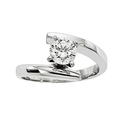 1 CT. Diamond 14K White Gold Solitaire Ring