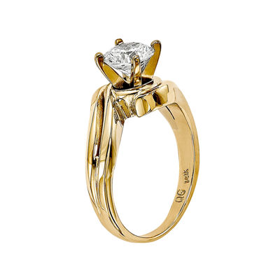 3/4 CT. Diamond 14K Two-Tone Gold Solitaire Ring