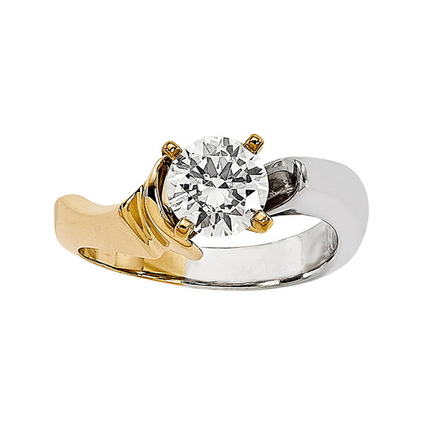 1 CT. Diamond 14K Two-Tone Gold Solitaire Ring