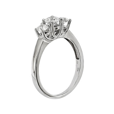 3/4 CT. T.W. Diamond 14K White Gold 3-Stone Engagement Ring