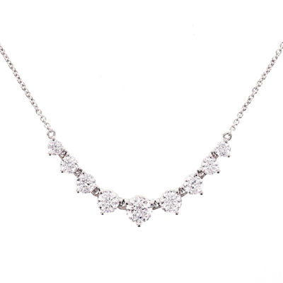 100 Facets by DiamonArt® Cubic Zirconia Graduated Necklace