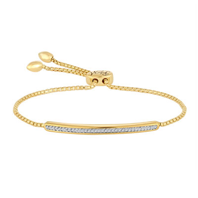 Rhythm and Muse 1/10 CT. T.W. Diamond 14K Yellow Gold Over Silver Bracelet