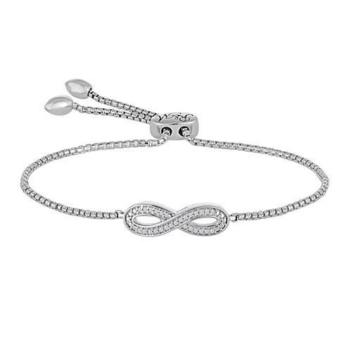 Rhythm and Muse Diamond Accent Sterling Silver Infinity Bracelet