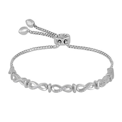 Fine Jewelry Rhythm and Muse Diamond Accent Sterling Silver Infinity Bracelet
