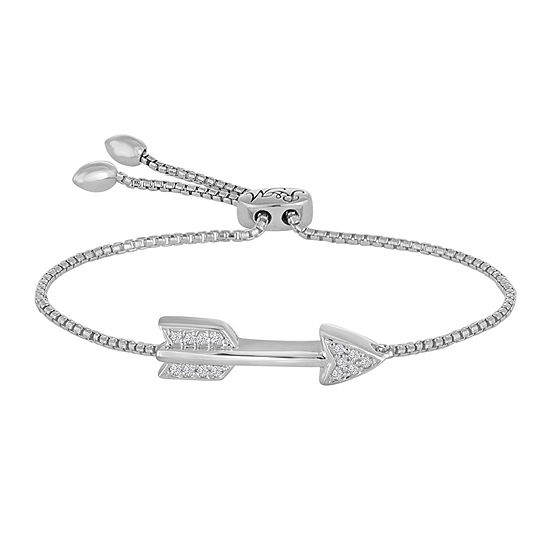 Diamond Accent Sterling Silver Bolo Bracelet