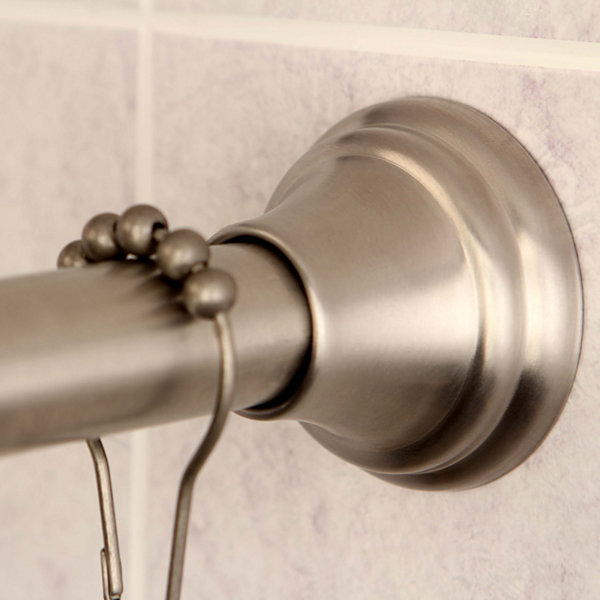 "Adjustable 72"" Shower Curtain Rod with Hooks"