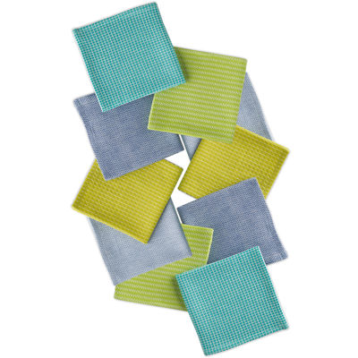 Design Imports Aruba Set of 10 Assorted Dishcloths