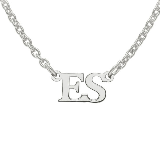 Personalized 2 Initial Pendant Necklace