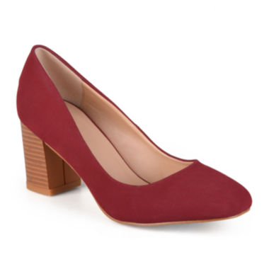 Journee Collection Amanda Microsuede Chunky Heel Pumps