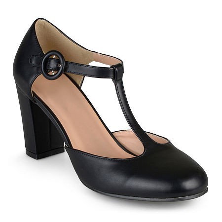 1920s Fashion & Clothing | Roaring 20s Attire Journee Collection Womens Talie T-Strap Pumps 11 Medium Black $37.49 AT vintagedancer.com