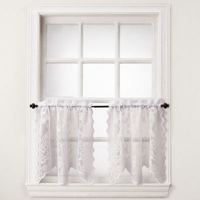 Home Expressions™ Jessica Lace Rod-Pocket Window Tiers