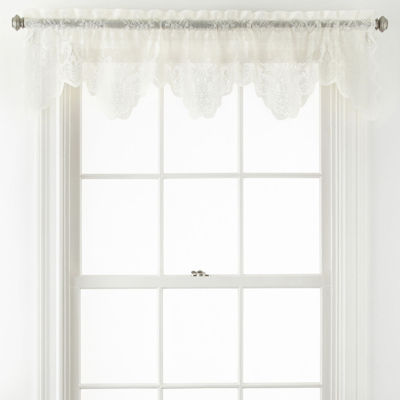 Home Expressions™ Jessica Lace Rod-Pocket Tailored Valance
