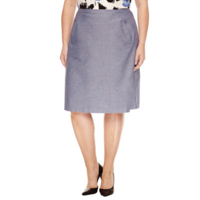 Black Label by Evan-Picone Suit Skirt-Plus