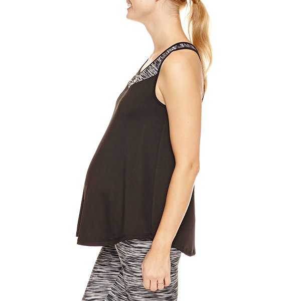 Planet Motherhood Knit Tank Top-Plus Maternity