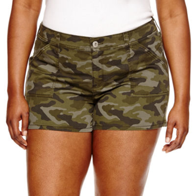 "Arizona 2 1/2"" Denim Shorts-Juniors Plus"