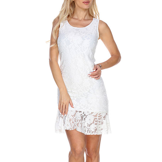 White Mark Cila Sleeveless Sheath Dress