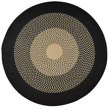 JCPenney Home Expressions Reversible Braided Round Rug, One Size , Black