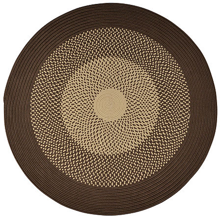 JCPenney Home Expressions Reversible Braided Round Rug, One Size , Brown