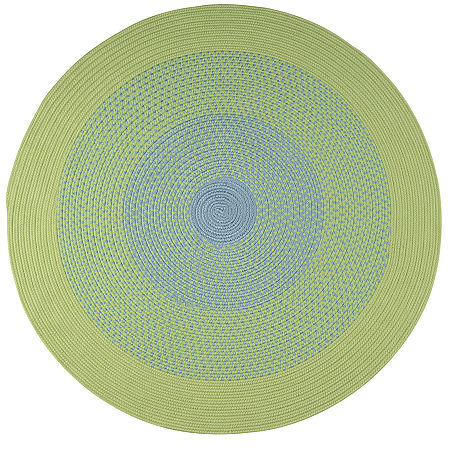JCPenney Home Expressions Reversible Braided Round Rug, One Size , Green