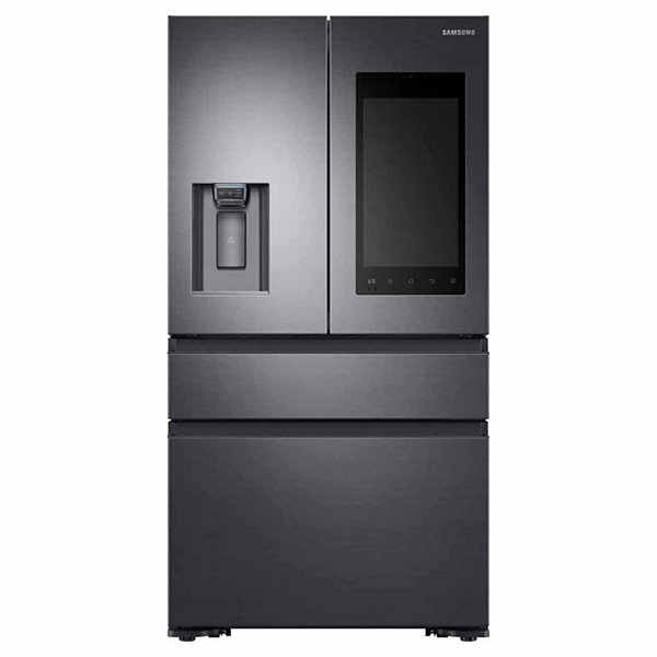 Samsung ENERGY STAR® 22.2 cu. ft. Counter-Depth Family Hub™ 4-Door French-Door Refrigerator with Recessed Handles