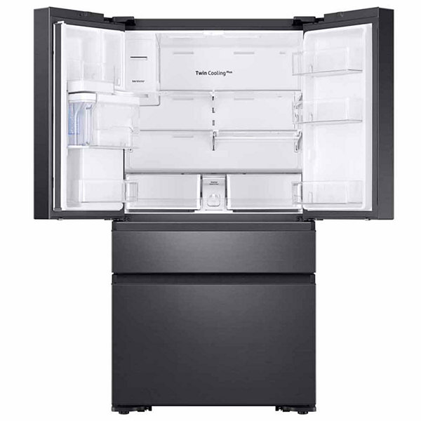 Samsung ENERGY STAR® Smart Wi-Fi Enabled 22.2 cu. ft. Counter-Depth Family Hub™ 4-Door French-Door Refrigerator with Recessed Handles