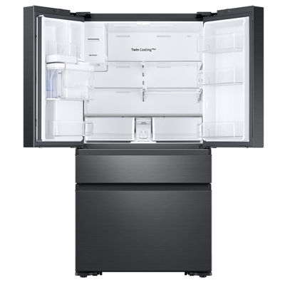 Samsung ENERGY STAR® Smart Wi-Fi Enabled 22.6 cu. ft. Counter-Depth 4-Door French-Door Refrigerator with Recessed Handles
