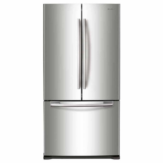 "Samsung 33"" Wide 17.5 cu. ft. Counter-Depth French-Door Refrigerator"