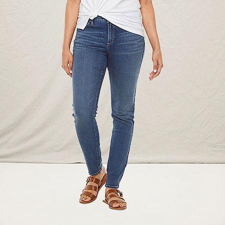 a.n.a Womens Curvy Skinny Jean, 8 , Blue