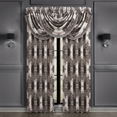 Queen Street Virginia Black Light-Filtering Rod-Pocket Set of 2 Curtain Panel