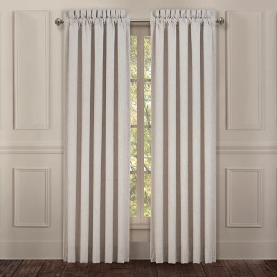 Queen Street Leanna Embroidered Light-Filtering Rod-Pocket Set of 2 Curtain Panel