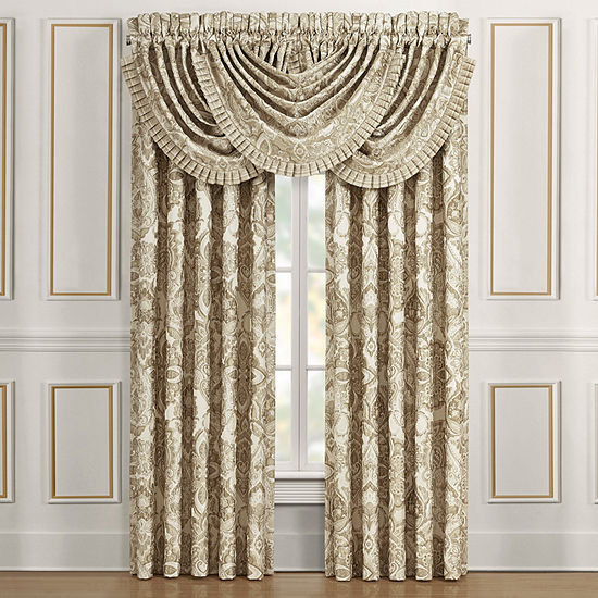 Queen Street Sandy Rod-Pocket Waterfall Valance