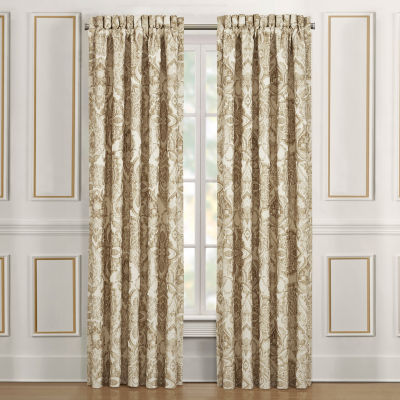 Queen Street Sandy Light-Filtering Rod-Pocket Set of 2 Curtain Panel