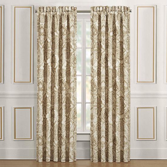 Queen Street Sandy Light-Filtering Rod-Pocket Set of 2 Curtain Panel