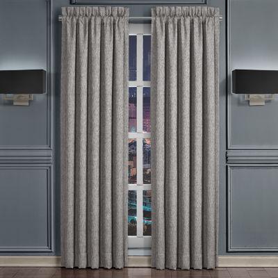 Queen Street Genesis Room Darkening Rod-Pocket Pair of 2 Curtain Panels