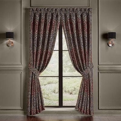 Queen Street Tamera Light-Filtering Rod-Pocket Set of 2 Curtain Panel