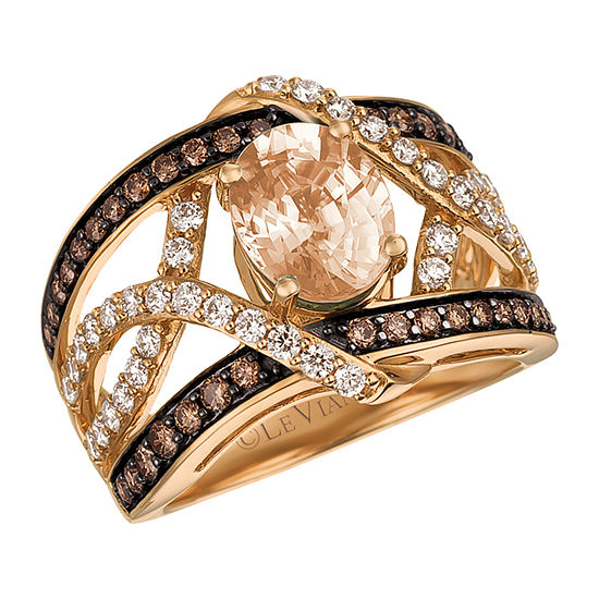 Le Vian Womens 1 CT. T.W. Genuine Pink Morganite 14K Gold Cocktail Ring
