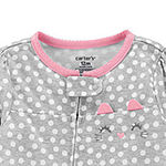 Carter's Baby Girls Knit Long Sleeve One Piece Pajama