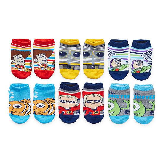 Toddler Boys 6 Pair No Show Socks