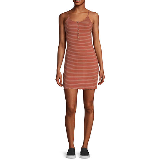 Arizona-Juniors Sleeveless Striped Bodycon Dress