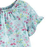 Carter's Toddler Girls Round Neck Short Sleeve T-Shirt