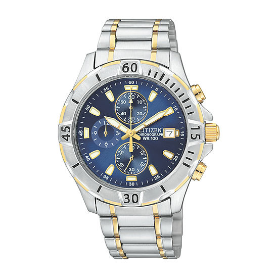 Citizen Quartz Mens Two Tone Stainless Steel Bracelet Watch - An3394-59l