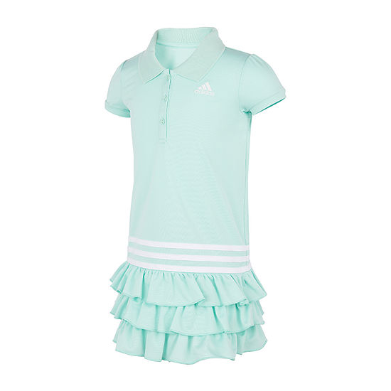 adidas Little Girls Short Sleeve T-Shirt Dress